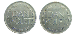 03203 GETTONE TOKEN JETON DENMARK AMUSEMENT GAMING DAN POLET INDLOSES IKKE - Casino