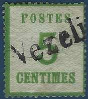FRANCE Fragment Alsace Lorraine Occupation N°4 5c Griffe Allemande Provisoire De Vezelize RRR - Alsace-Lorraine