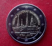 Lettland Latvia 2014  -- 2 Euro Gedenkmünze Riga Old City ,  Münze  Coin CIRCULATED - - Letland