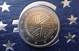 LATVIA 2 Euro Coin Presidency Of The Council Of The European Union 2015 CICULATED - USED - Letland