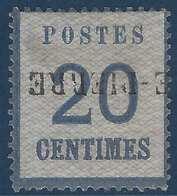FRANCE Fragment Alsace Lorraine N°6 20c  Griffe Allemande Provisoire De La Petite-Pierre RRRR - Alsace-Lorraine