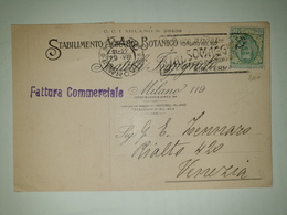 CP326-Cartolina Pubblicitaria Stabilimento Agrario Botanico - Milano - 1900-44 Vittorio Emanuele III