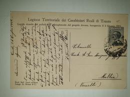 CP328-Cartolina Legione Territoriale Dei Carabinieri Reali Di Trento - 1900-44 Victor Emmanuel III