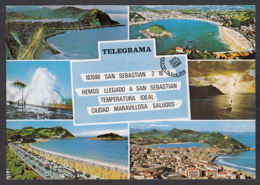 86214/ SAN SEBASTIAN, Telegrama - Guipúzcoa (San Sebastián)