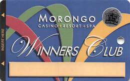 Morongo Casino - Cabazon, CA USA - BLANK Slot Card With Silver Star Club Sticker - Carte Di Casinò