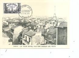 Télécom - Télévision -  Tour Eiffel ( CM De France De 1955 à Voir) - Télécom