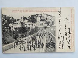 C. P. A. : Monténégro, CETINJE : La Sortie De S. A. R. Prince Nicolas I. Avec Sa Suite Du Monastère De CETTIGNE, En 1908 - Montenegro