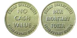 02700 GETTONE TOKEN JETON BROAD ENTERPRISES NO CASH VALUE - Estados Unidos