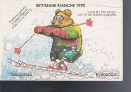 Italia Formato Grande:Cartolina Roccaraso(AQ) - Settimana Bianca 1992 . Viaggiata. - Italia