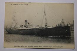 Cpa Souvenir De Voyage Maréchal BUGEAUD Paquebot Poste De La Cie Transatlantique, Courrier D'Algérie - TOQ03 - Dampfer