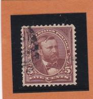 Etats-Unis  N°101 + Fleurons   - 1890-1893 -  U. GRANT - Oblitérés - Usados