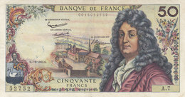 Billet 50 F Racine Du 7-6-1962 FAY 64.01 Alph. A.7 1ère Date D'émission - 50 F 1962-1976 ''Racine''