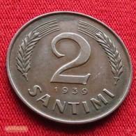 Latvia 2 Santimi 1939 KM# 11.2  Letonia Lettland Lettonia Latvija - Latvia