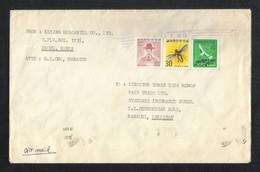 Korea Air Mail Postal Used Cover Korea To Pakistan  Insects Birds Animal - Korea (...-1945)