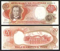 PHILIPPINES 20 PESOS     1974-78   UNC - Philippines