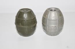 Militaria - Lot De 2 Corps De Grenade à Identifier N°1  - INERTE - Arme à Feu - Munition / Artillerie / Obus / Missile - Armes Neutralisées