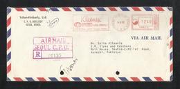 Korea 1982 Slogan Meter Mark Air Mail Postal Used Cover To Pakistan - Korea (...-1945)