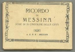 LIBRETTO 18 CARTOLINE MESSINA - FORMATO PICCOLO IN BUONE CONDIZIONI - - Messina