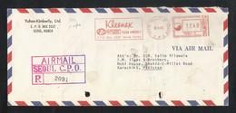 Korea 1983 Slogan Meter Mark Air Mail Postal Used Cover To Pakistan - Korea (...-1945)