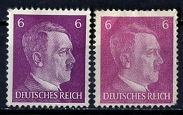 Allemagne III Reich - Germany - Deutschland 1941-43 Y&T N°709 - Michel N°785 * - 6p Hitler - Nuance De Couleur - Allemagne