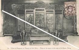 Tien-Tsin(China)-Throne Of The Emperor In The Temple Of The Heaven,Peking-Trône De L'Empereur,Pekin-Bureau Anglais - Cina