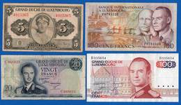 Luxembourg  4  Billets - Luxembourg