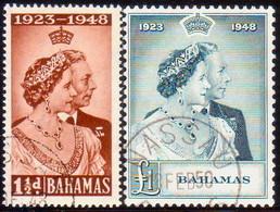BAHAMAS 1948 SG #194-95 Compl.set Used CV £32+ Royal Silver Wedding - 1859-1963 Crown Colony