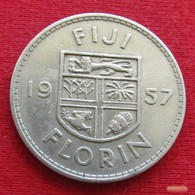 Fiji 1 One Florin 1957 KM# 24  *V2 - Fiji