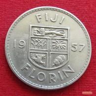 Fiji 1 One Florin 1957 KM# 24  *V1 - Fiji
