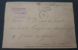 Waardebrief 8000 Fr Fontayne L'eveque  Met 2 X Nr 208 , Nr 279  En Nr 282 , Zie Foto's - 1922-1927 Houyoux
