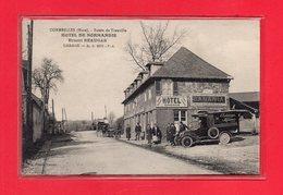 27-CPA CORMEILLES - ROUTE DE TROUVILLE - HOTEL DE NORMANDIE - ERNEST BEAUGAS - GARAGE - Frankreich