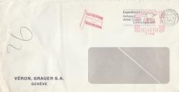 LSC 1966 - EMA - (Drapeau) Maison Fondée En 1867 / Cachet GENEVE - Storia Postale