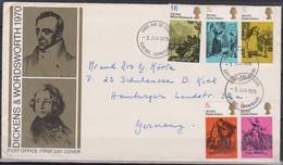 Grossbritannien 1970 MiNr.544 - 548 FDC 100.Todestag Von Charles Dickens ( D 3601 )günstige Versandkosten - FDC