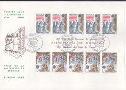 MONACO  Block 19 FDC, EUROPA CEPT 1982, Historische Ereignisse - Europa-CEPT