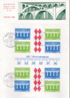 MONACO  Block 26 FDC, EUROPA CEPT 1984, 25 Jahre CEPT - Europa-CEPT