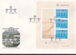 PORTUGAL AZOREN Block 5 FDC, EUROPA CEPT 1984, 25 Jahre CEPT - Europa-CEPT
