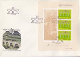 PORTUGAL MADEIRA Block 5 FDC, EUROPA CEPT 1984, 25 Jahre CEPT - Europa-CEPT