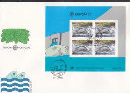 PORTUGAL Block 50 FDC, EUROPA CEPT 1986, Natur- Und Umweltschutz - Europa-CEPT