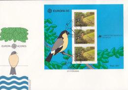 PORTUGAL AZOREN  Block 7 FDC, EUROPA CEPT 1986, Natur- Und Umweltschutz - Europa-CEPT