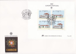 PORTUGAL Block 71 FDC, EUROPA CEPT 1990, Postalische Einrichtungen - Europa-CEPT