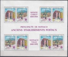 MONACO  Block 47, Postfrisch **, Europa CEPT: Postalische Einrichtungen 1990 - Europa-CEPT