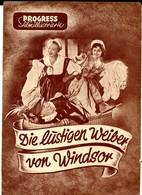 DIE LUSTIGEN WEIBER VON WINDSOR 1950 Regie:Georg Wildhagen  Progress-Filmillustrierte - Films & TV