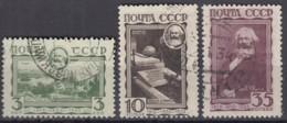 SOWJETUNION  424-426, Gestempelt, 50. Todestag Von Karl Marx, 1933 - 1923-1991 URSS