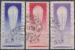 SOWJETUNION  435-455, Gestempelt, Stratosphärenflug Von Georgij Prokofjew, Ernst Birnbaum Und Konstantin Godunow, 1933 - 1923-1991 URSS