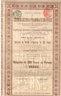 Ancienne Obligation - Sté Anonyme De Chemins De Fer Et Tramways En Perse - Titre De 1906 - - Chemin De Fer & Tramway