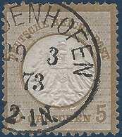 Allemagne Empire N°6 5 Gr Utilisé En Alsace Lorraine ( Elsaas ) Obl Dateur Allemand De Diedenhofen RR - Alsace-Lorraine