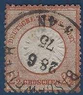 Allemagne Empire N°18 2 1/2 Gr Utilisé En Alsace Lorraine ( Elsaas ) Obl Dateur Allemand De Bischweiler RR - Alsace-Lorraine