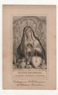 204 Santino Antico Di Stampa Francese Madonna Addolorata Di Terra Santa - Religion & Esotérisme