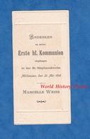 Image Ancienne Religieuse De 1916 - MULHOUSE / MULHAUSEN - Erste Kommunion - Marcelle WEISS - Communion - Imágenes Religiosas