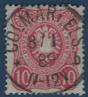 Allemagne Empire N°38 10 Pfe Utilisé En Alsace Lorraine ( Elsaas ) Obl Dateur Allemand De Colmar In Elsaas R - Alsace-Lorraine